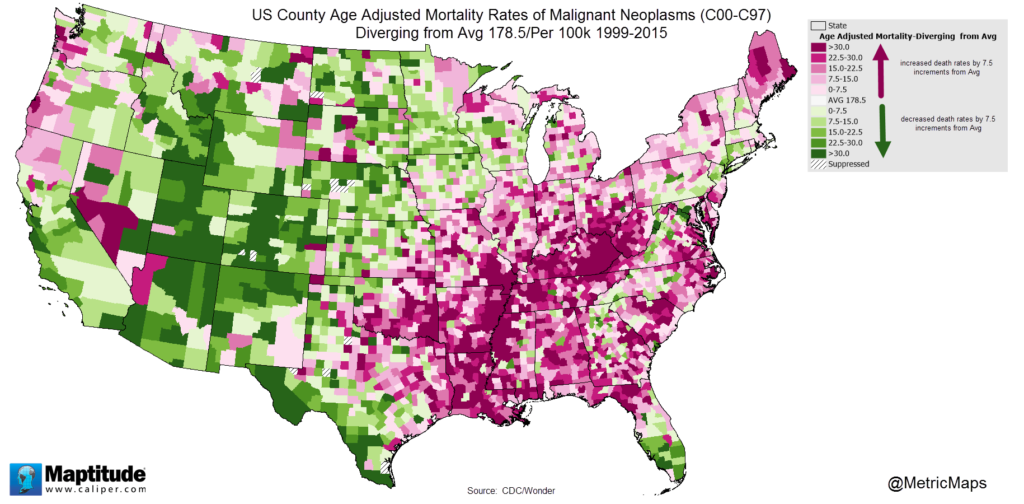 US County Cancer Mortality Rates
