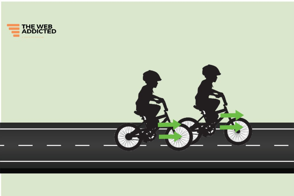 kids ride a bike