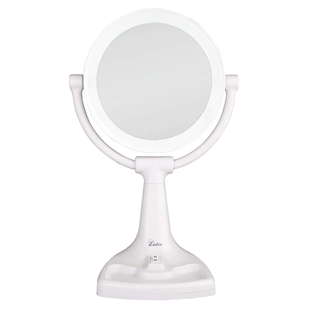 Zadro Max Bright Sunlight Dual Sided Vanity Makeup Mirror