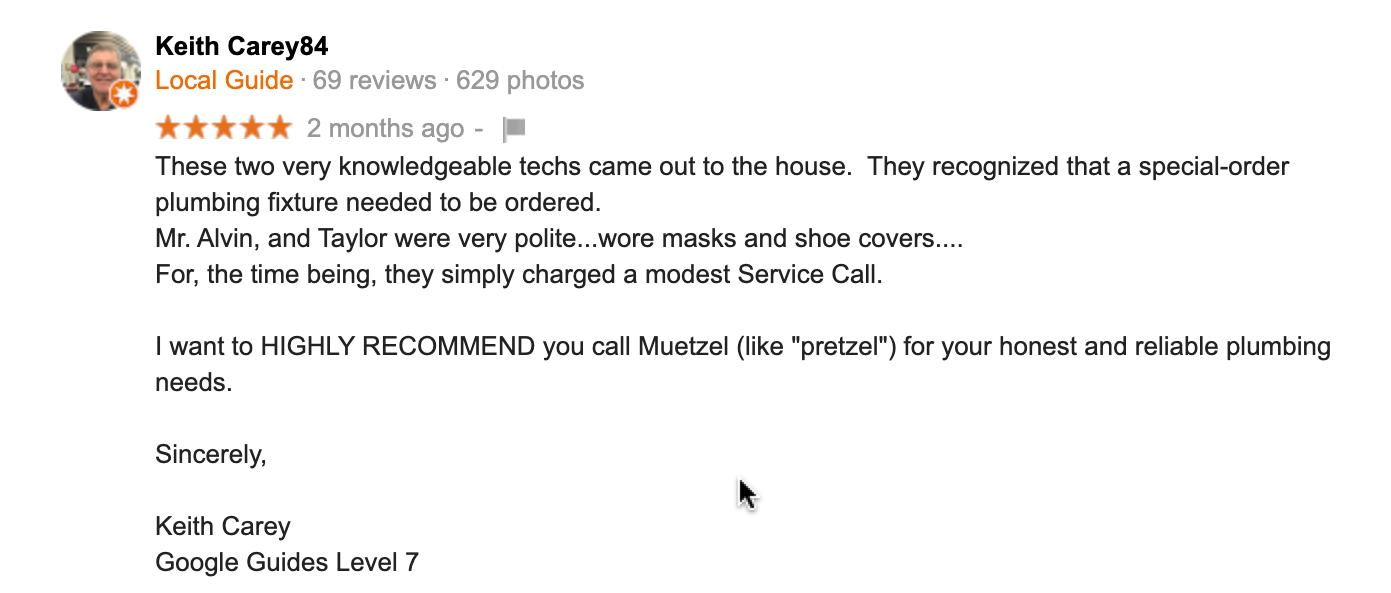 Muetzel Plumbing